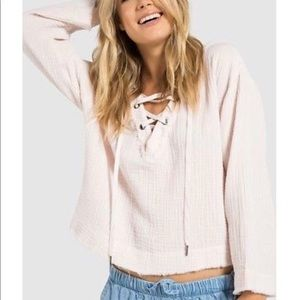 Cloth and Stone Women's Lace Up Top Size XS